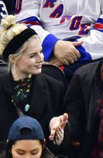 LUCY BOYNTON and Rami Malek at San Jose Sharks vs New York Rangers Game in New York 02/22/2020