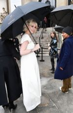 LUCY BOYNTON Arrives at Chloe Fashion Show at PFW in Paris 02/27/2020
