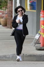LUCY HALE Leaves a Gym in Los Angeles 02/23/2020