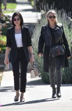 LUCY HALE Leaves Aroma Cafe in Studio City 02/24/2020