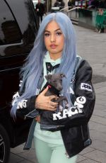 MABEL Out with Her Dog in London 02/20/2020