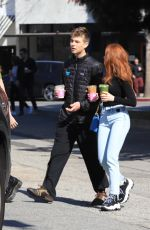 MADELAINE PETSCH at Alfred Coffee in Los Angeles 02/17/2020