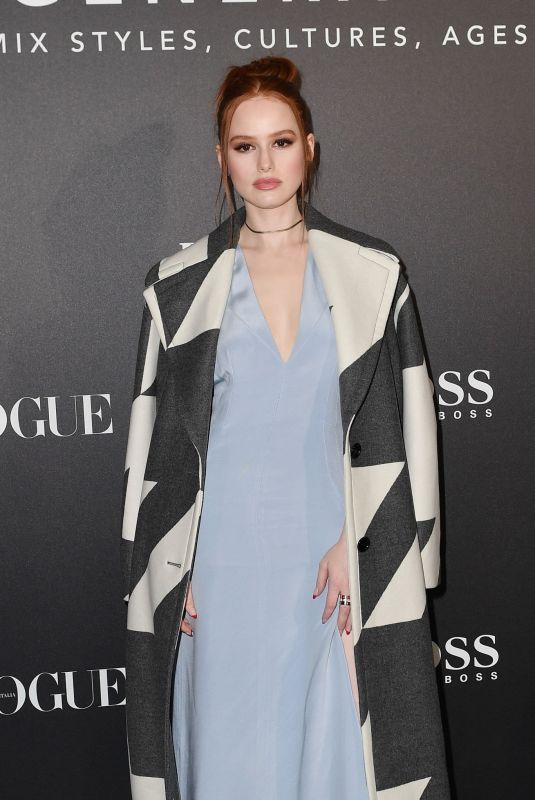 MADELAINE PETSCH at Boss & Vogue Italia Event in Milan 02/21/2020