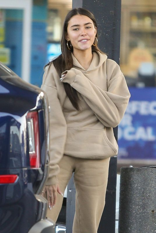 MADISON BEER at a Gas Station in Los Angeles 02/06/2020
