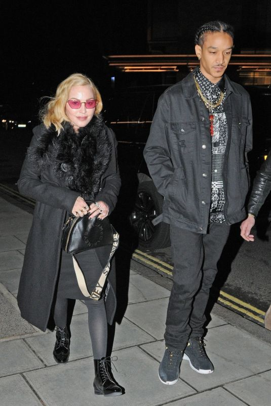 MADONNA and Ahlamalik Williams at Chiltern Firehouse in London 02/15/2020