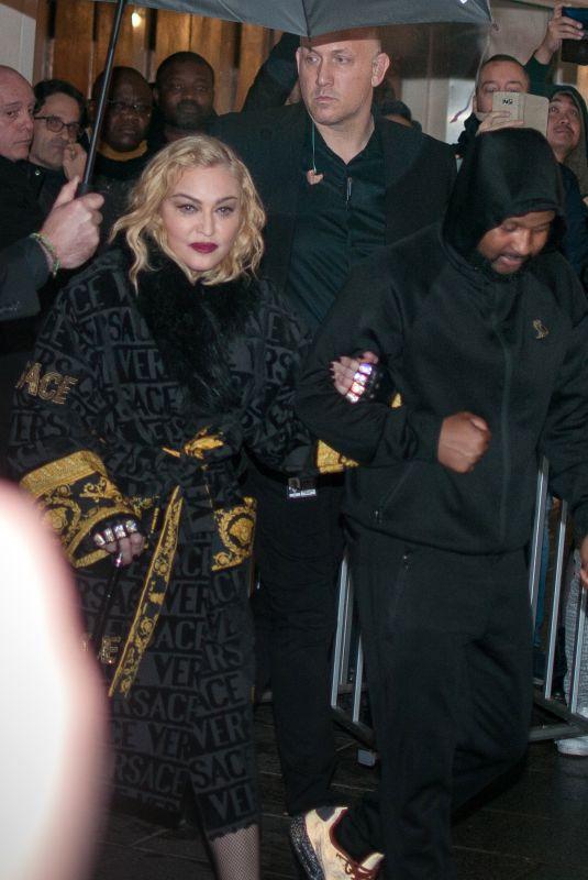 MADONNA Leaves Rex Hall in Paris 02/23/2020