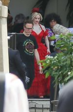 MARGOT ROBBIE on the Set of Suicide Squad in Panama City 02/13/2020