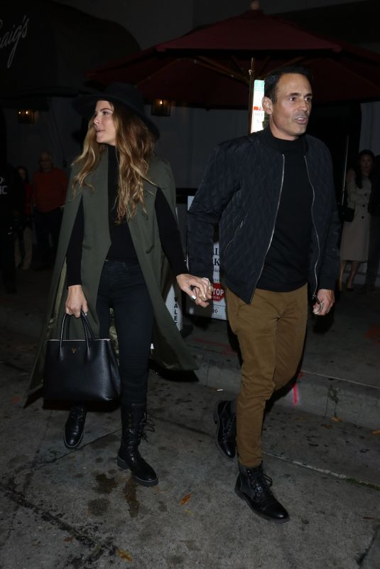 MARIA MENOUNOS and Keven Undergaro at Craig's Restaurant in West Hollywood 02/24/2020