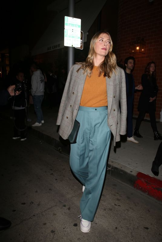 MARIA SHARAPOVA at Mr Chow in Beverly Hills 02/06/2020