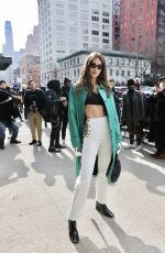MARIANNE FONSECA Out at New York Fashion Week 02/12/2020