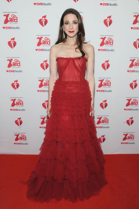 MARIN HINKLE at American Red Heart Association's Go Red for Women Red Dress Collection in New York 02/05/2020
