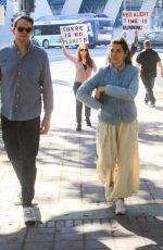 MARISA TOMEI Arrives at Jane Fonda