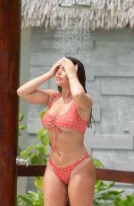 MEGAN BARTON HANSON in Bikini at a Pool in Maldives 01/26/2020