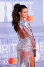 MICHELLE KEEGAN at Brit Awards 2020 in London 02/18/2020