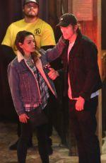 MILA KUNIS and Ashton Kutcher at Saddle Ranch in West Hollywood 02/26/2020