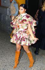 NICKI MINAJ Arrives at Marc Jacobs Fashion Show in New York 02/12/2020