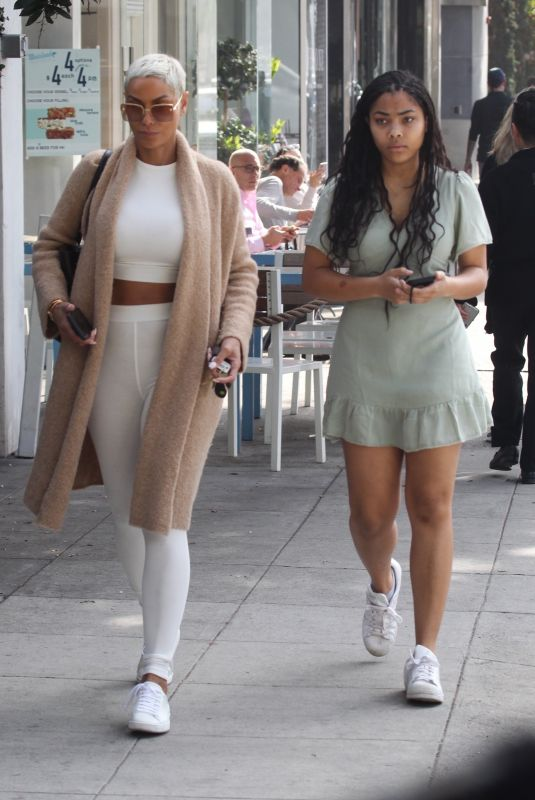 NICOLE and BELLA MURPHY Out in Beverly Hills 02/01/2020