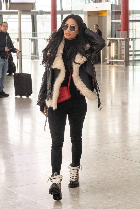 NICOLE SCHERZINGER at Heathrow Airport in London 02/03/2020
