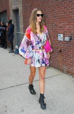 NINA AGDAL Arrives at Zimmerman Fashion Show in New York 02/10/20