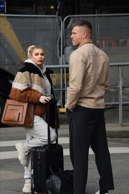 OLIVIA BUCKLAND and Alex Bowen at Manchester Piccadilly Train Station 02/05/2020