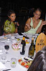 OLIVIA CULPO and JASMINE SANDERS at Raos Grand Opening Dinner in Miami 01/31/2020
