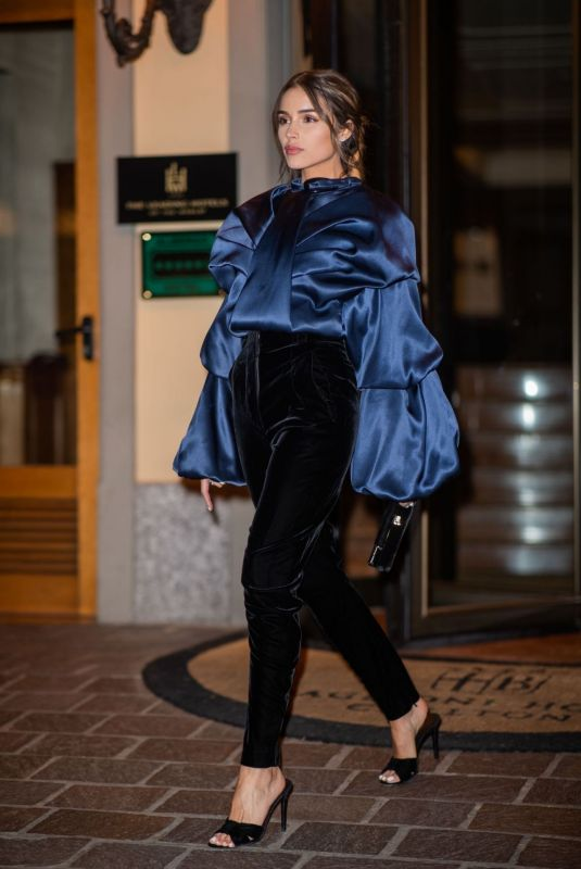 OLIVIA CULPO Night Out in Milan 02/21/2020
