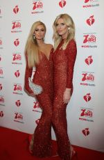 PARIS and NICKY HILTON at American Red Heart Association's Go Red for Women Red Dress Collection in New York 02/05/2020