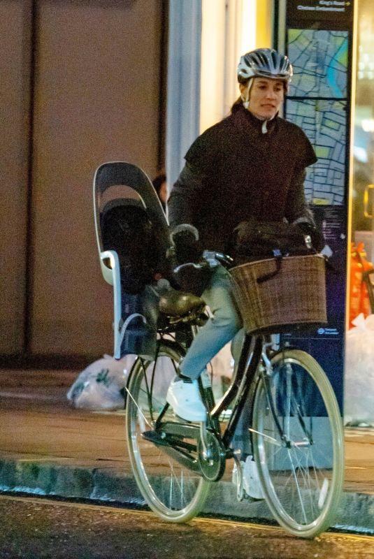 PIPPA MIDDLETON Riding a Bike Out in London 02/20/2020