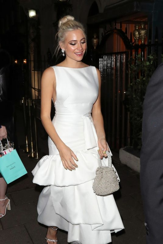 PIXIE LOTT Arrives at Bafta Vogue x Tiffany Fashion and Film After-party in London 02/02/2020