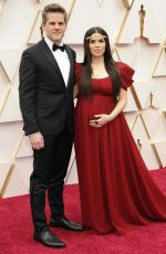 Pregnant AMERICA FERRERA at 92nd Annual Academy Awards in Los Angeles 02/09/2020