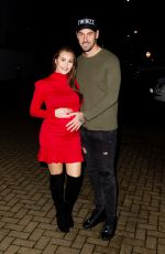 Pregnant CHLOE GOODMAN anf Grant Hall Night Out in London 02/08/2020