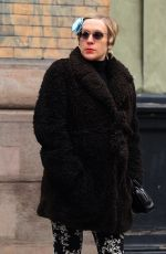 Pregnant CHLOE SEVIGNY Out for Lunch in New York 02/05/2020