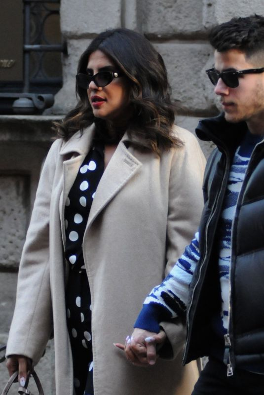 PRIYANKA CHOPRA and Nick Jonas Out for Lunch in Milan 02/14/2020