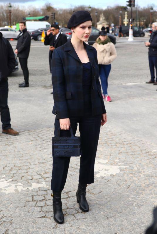 RACHEL BROSNAHAN Arrives at Dior Fashion Show in Paris 02/25/2020