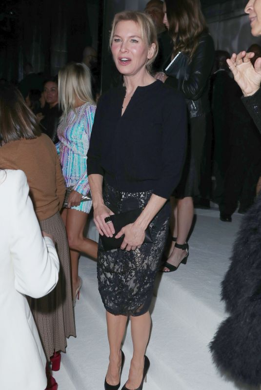 RENEE ZELLWEGER at Tom Ford Fashion Show in Los Angeles 02/07/2020