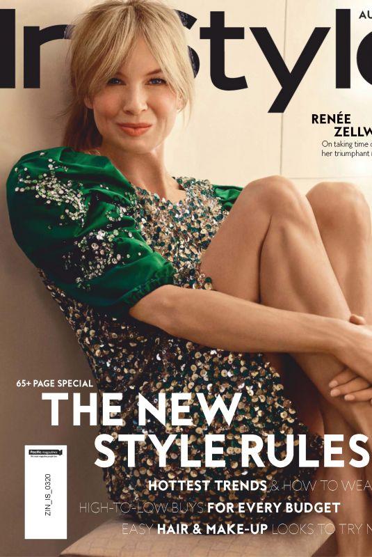 RENEE ZELLWEGER in Instyle Magazine, Australia March 2020