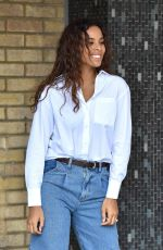 ROCHELLE HUMES at ITV Studio in London 02/04/2020