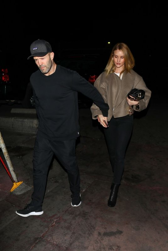 ROSIE HUNTIGNTON-WHITELEY and Jason Statham Out for Dinner in Los Angeles 02/26/2020