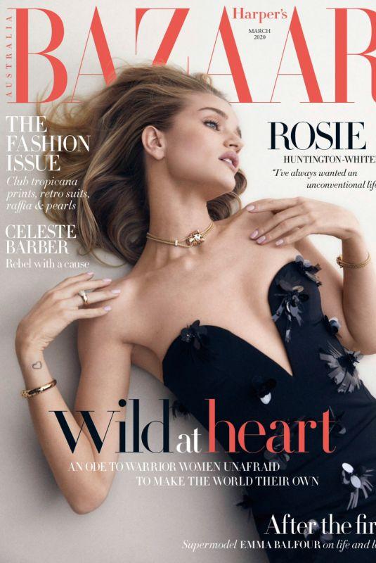 ROSIE HUNTINGTON-WHITELEY in Harper's Bazaar Magazine, Australia March 2020