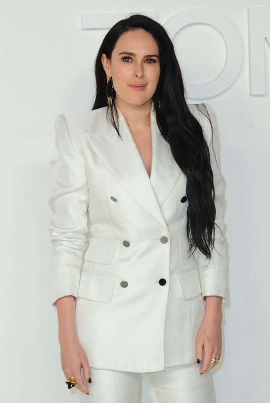 RUMER WILLIS at Tom Ford Fashion Show in Los Angeles 02/07/2020