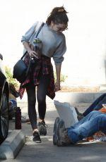 SARAH HYLAND Leaves a Gym in Hollywood 02/20/2020