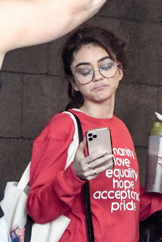 SARAH HYLAND Leaves Dogpoung Gym in Los Angeles 02/14/2020