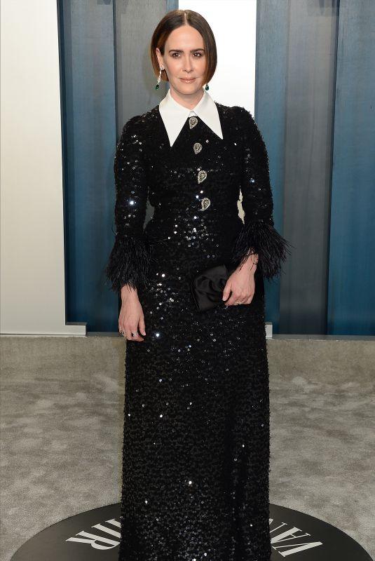 SARAH PAULSON at 2020 Vanity Fair Oscar Party in Beverly Hills 02/09/2020