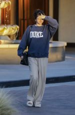SELENA GOMEZ Out for Lunch in Studio City 02/01/2020