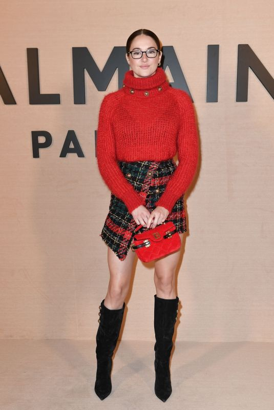 SHAILENE WOODLEY at Balmain Show at Paris Fashion Week 02/25/2020