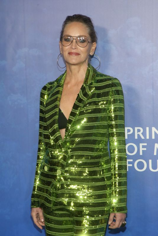 SHARON STONE at 2020 Hollywood for the Global Ocean Gala in Beverly Hills 02/06/2020