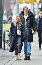 SIENNA MILLER and Lucas Zwirner Out in New York 02/04/2020