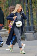 SIENNA MILLER Out and About in New York 02/04/2020