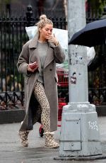 SIENNA MILLER Shows off Her Engagement Ring Out in New York 02/11/2020