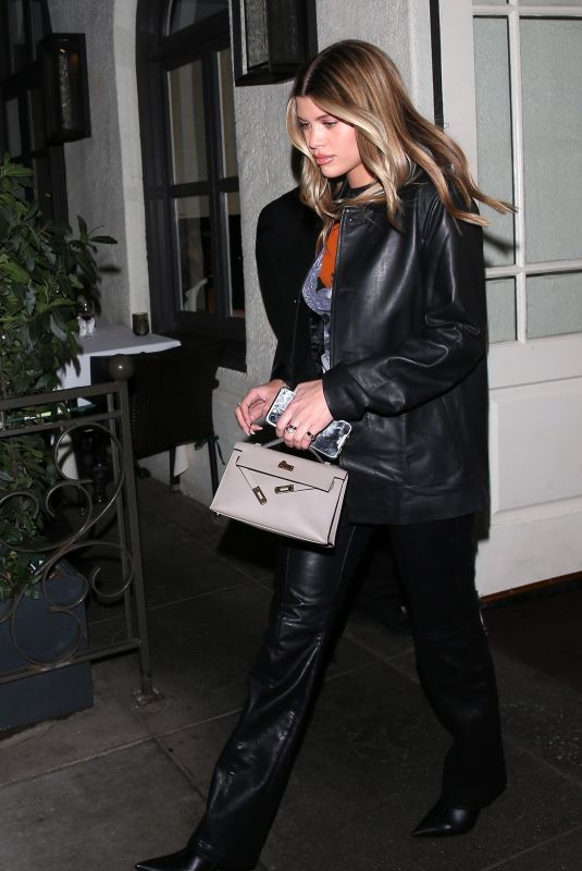 SOFIA RICHIE Leaves Madeo Restaurant in Beverly Hills 02/27/2020